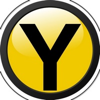 Yellow roboter logo